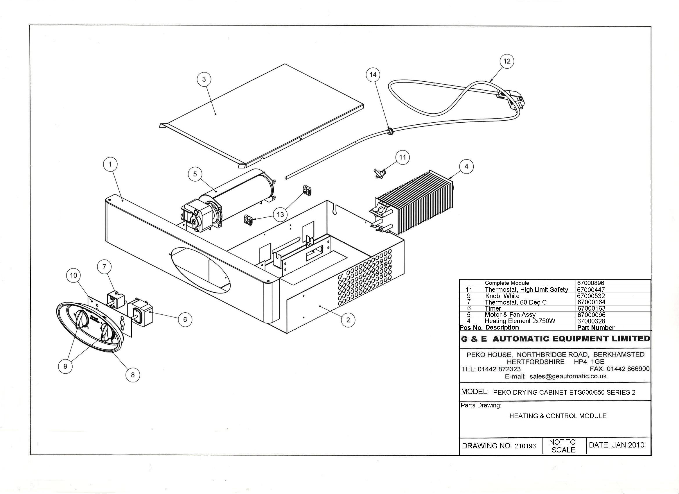 Spare Parts Peko Drying Cabinets Gear Dryer Wiring Diagram Ets 600 650 Series 2 Heating And Control Module