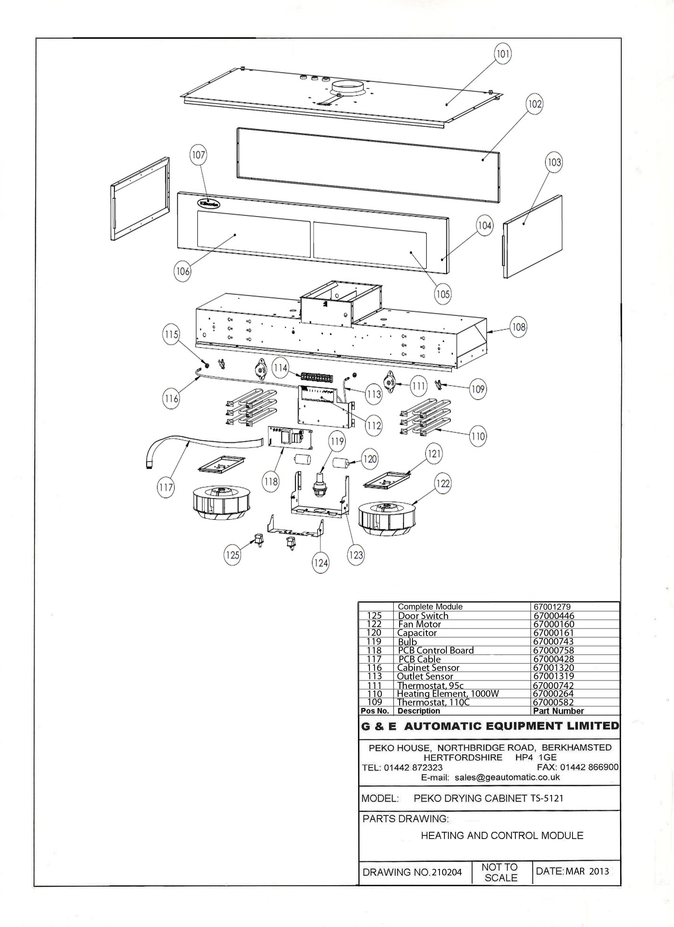 spare parts peko drying cabinets 220 Dryer Wiring Diagram ts 5121 heating and control module